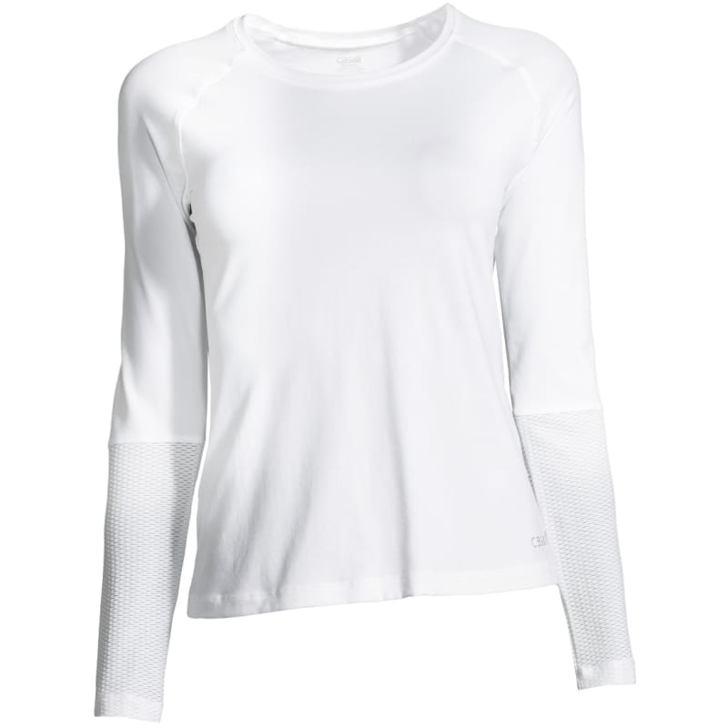 Casall Mesh Insert Long Sleeve, White, 42