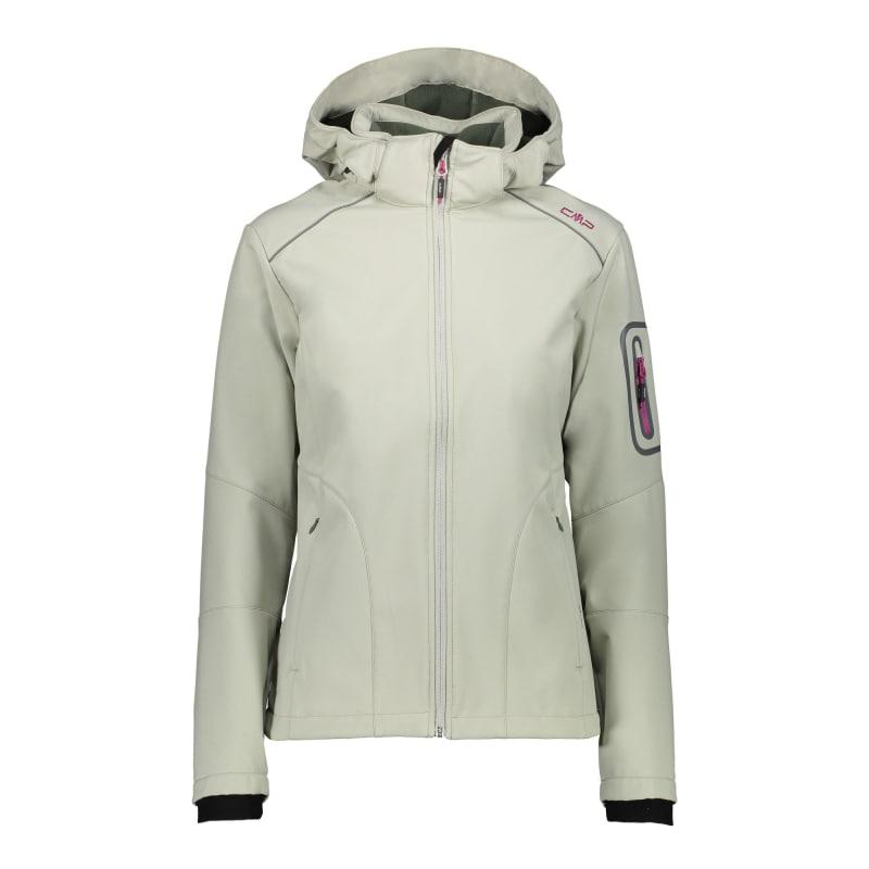 CMP Woman Softshell Jacket Zip Hood(3A05396), Salvia, 46