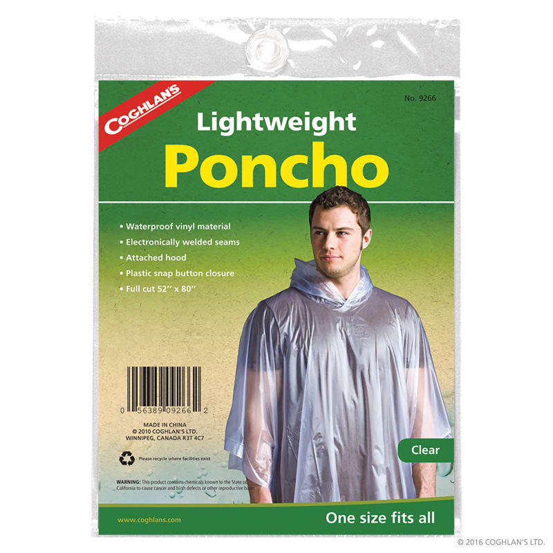 Lightweight Poncho Clear