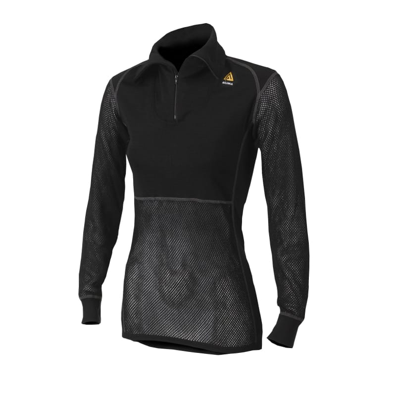 WoolNet Polo With Zip Woman