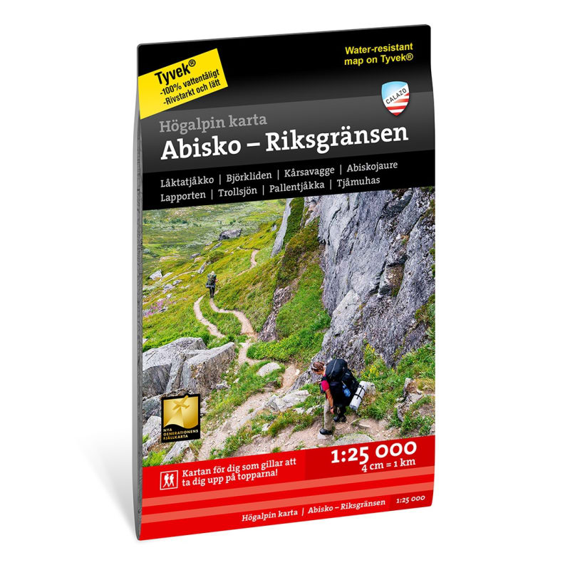 Högalpin Karta Abisko & Riksgränsen