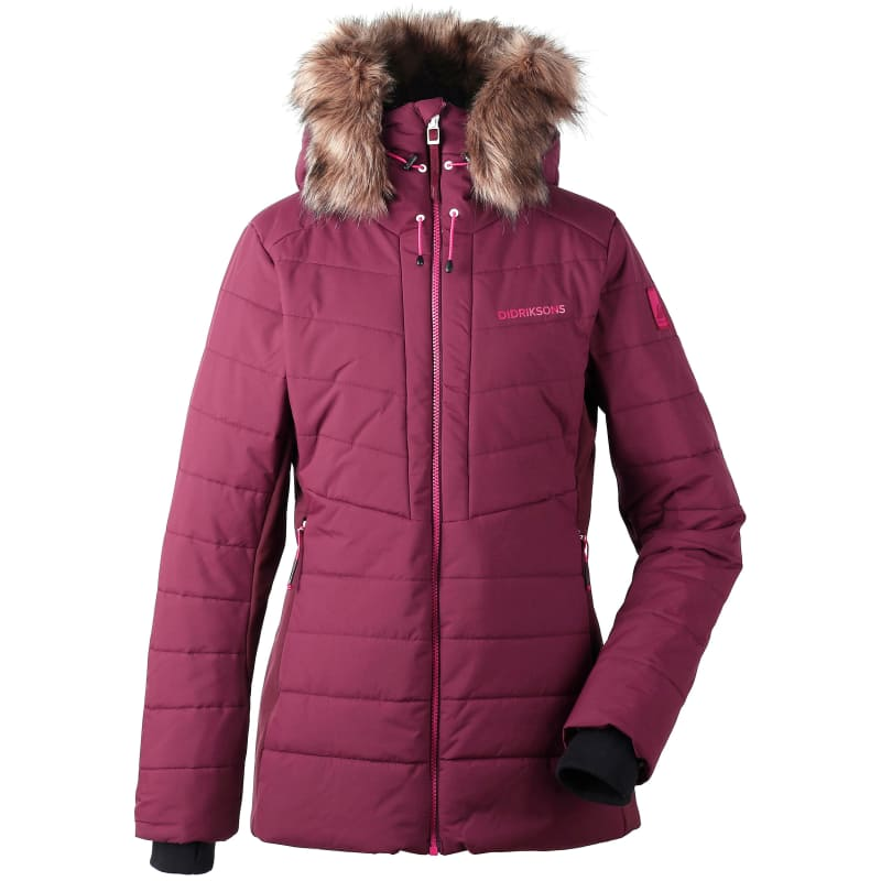 Didriksons Ona Women's Padded Jacket, Wine Red, 46