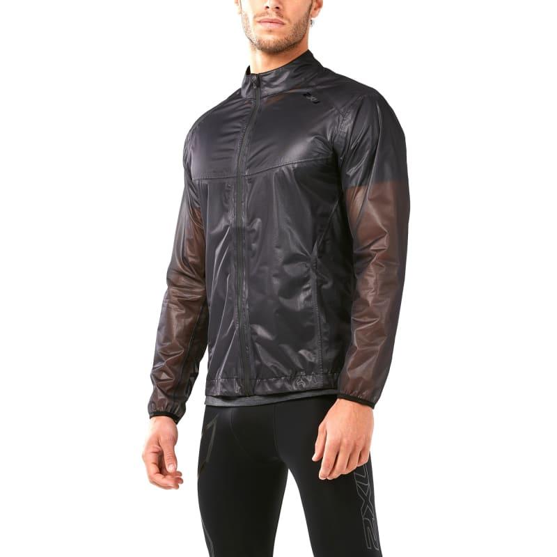 2XU Men's Heat Packable Membrane Jacket, Black/Black, L