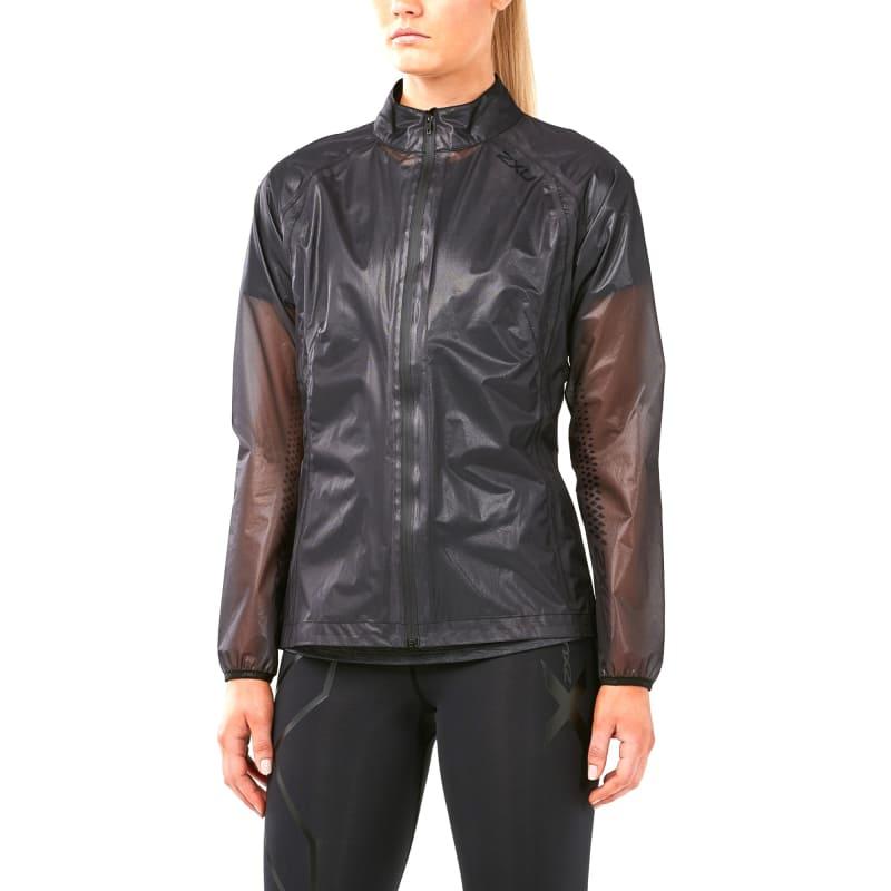 2XU Women's Heat Packable Membrane Jacket, Black/Black, M