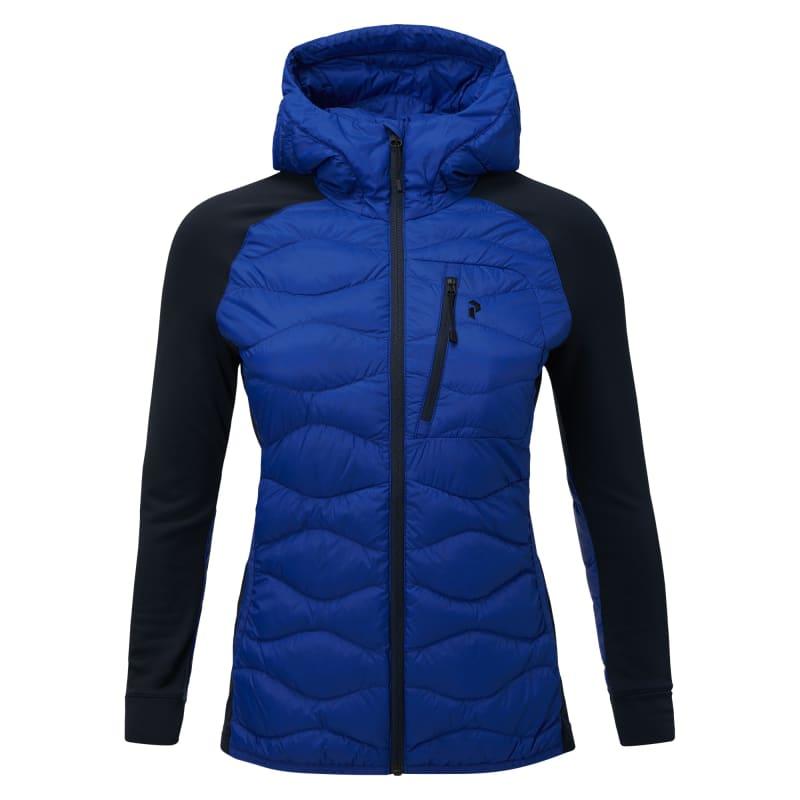 Peak Performance Women's Down Helium Hybrid Hood Jacket, Island Blue, XS