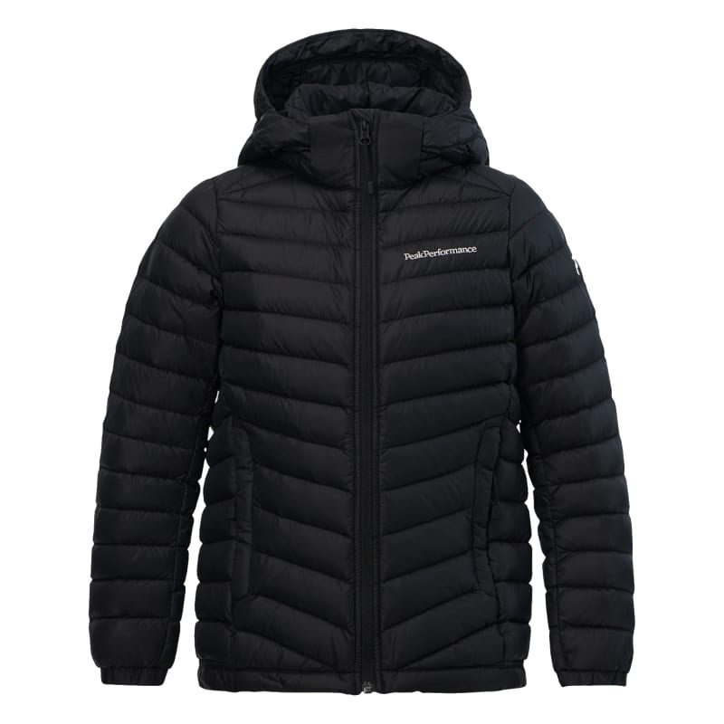 Peak Performance Kids Frost Down Hooded Jacket Svart