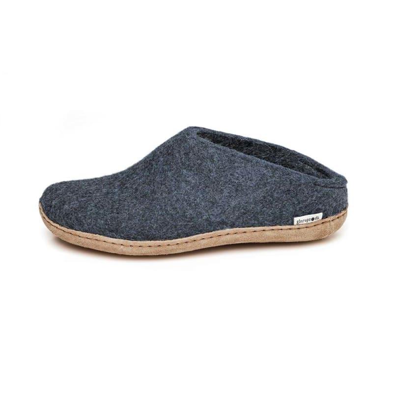 bd295929 Glerups Open Heel Leather Sole, Denim, 42