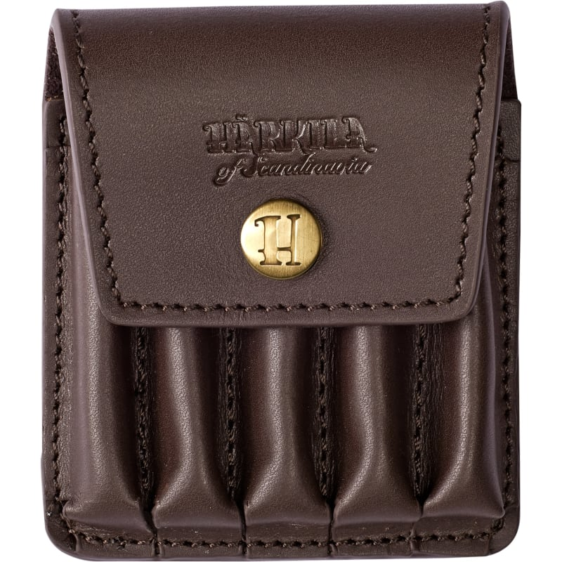 Härkila Rifle Cartridge Cover In Leather  Brun 5 BULLETS