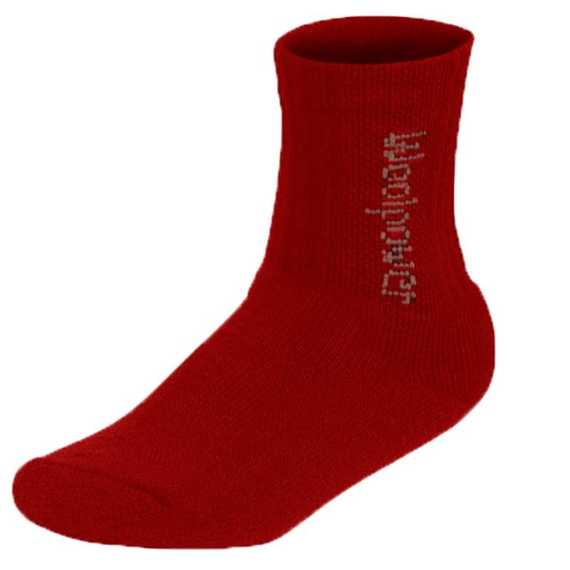 Woolpower Kids Socks Logo 400 Röd
