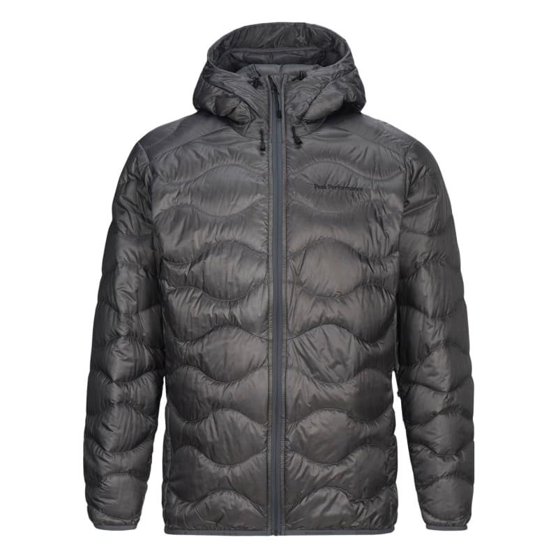 Peak Performance Men's Helium Lux Hooded Jacket, Quiet Grey, S