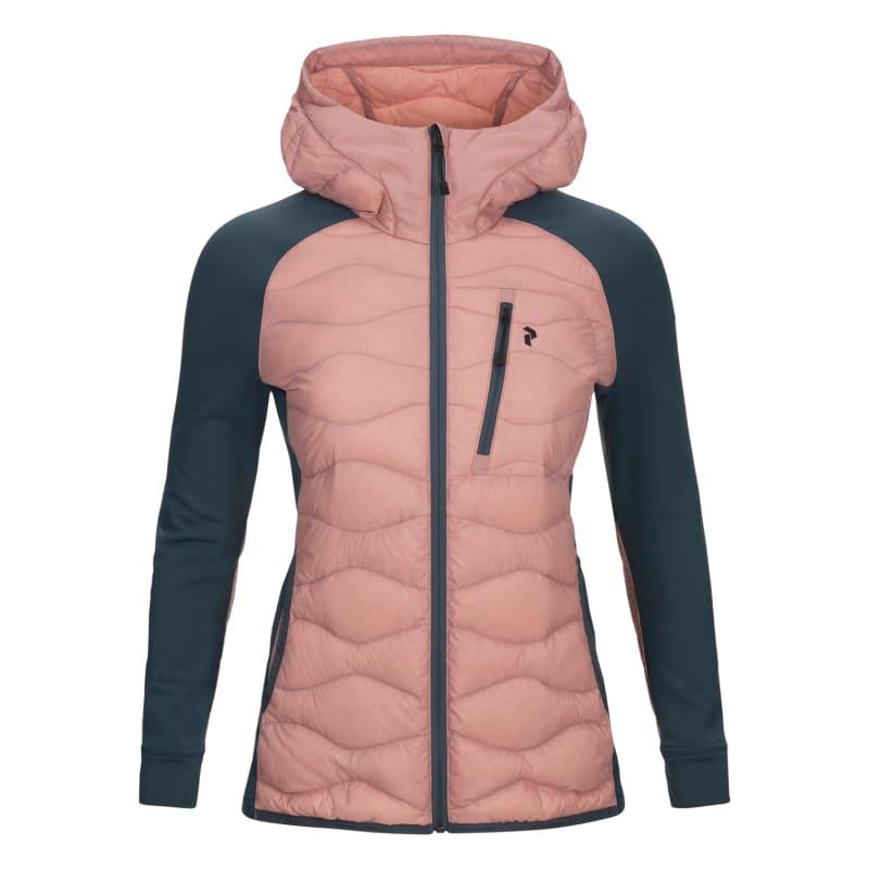 Peak Performance Women's Helium Hybrid Hooded Jacket, Warm Blush, XL