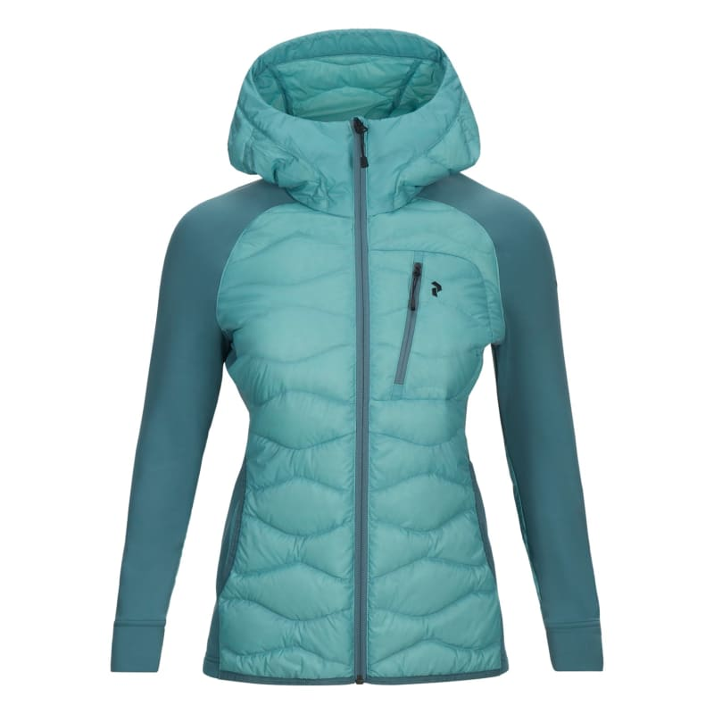 Peak Performance Women's Helium Hybrid Hooded Jacket, Nile Blue, S