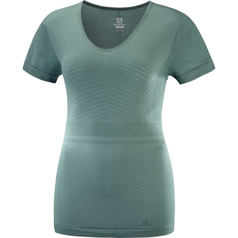 Salomon Elevate Move'on Ss Tee Women's, Balsam Green, XXL