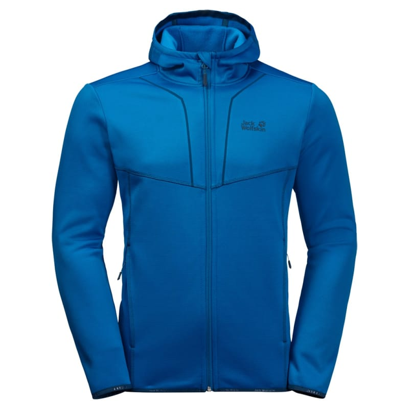 Jack Wolfskin Mens Kiewa Hooded Jacket Blå