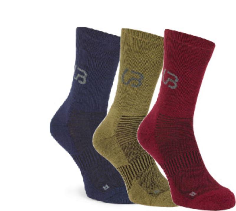 3-pack hiking wool socks