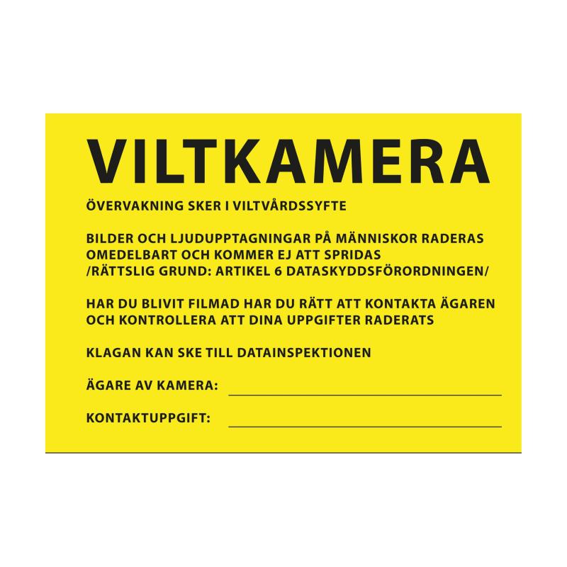 Info Sign Viltkamera