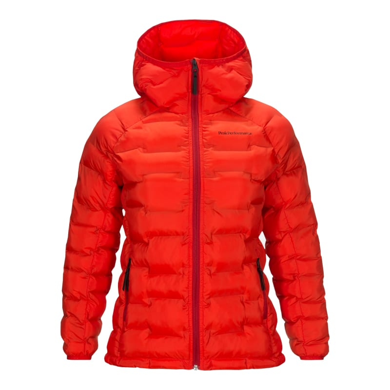 Peak Performance Argon Hooded Jacket Womens Röd