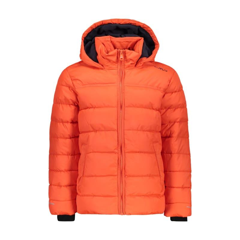 CMP Boys Synthetic Jacket Fix Hood Svart