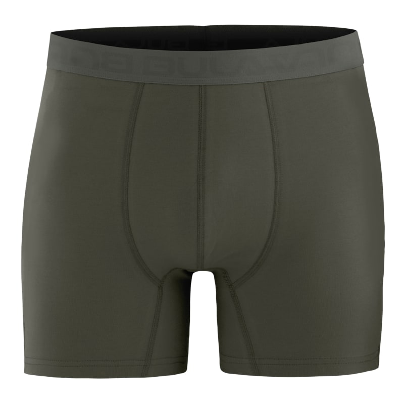 Resteröds Boxer Bamboo 3-pack Regular Leg Pitch Black, Stone Grey XXL