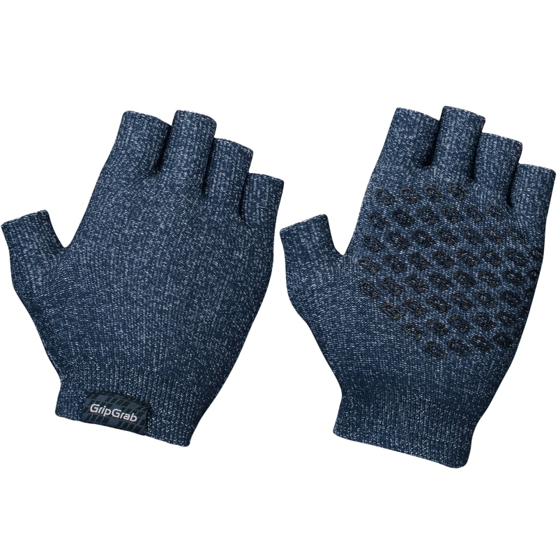 GripGrab Freedom Knitted Cycling Gloves Blå