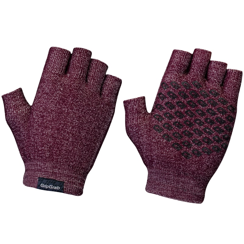 GripGrab Freedom Knitted Cycling Gloves Lila