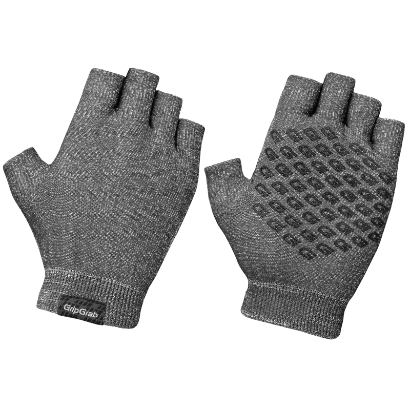 GripGrab Freedom Knitted Cycling Gloves Grå