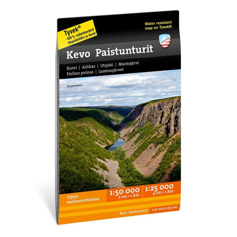 Calazo förlag Kevo Paistunturit 1:25.000/1:50.000 Svart