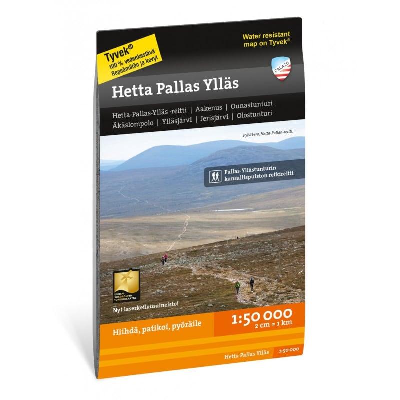 Calazo förlag Hetta Pallas Ylläs 1:50.000 Svart