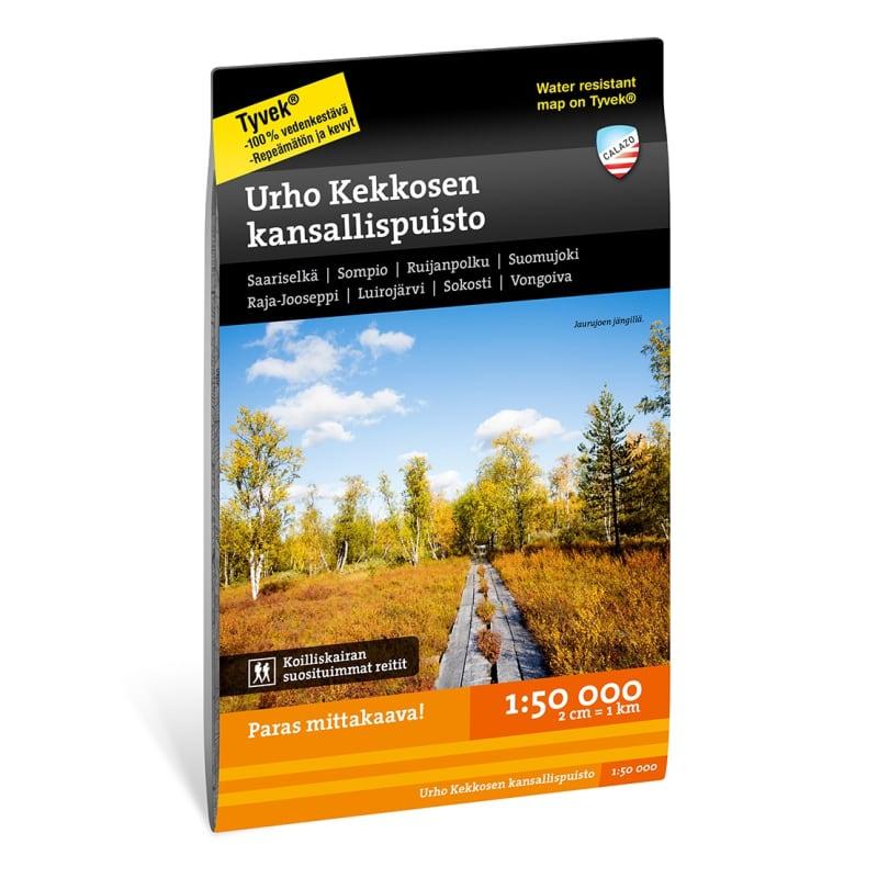 Calazo förlag Urho Kekkosen kansallispuisto 1:50.000 Svart