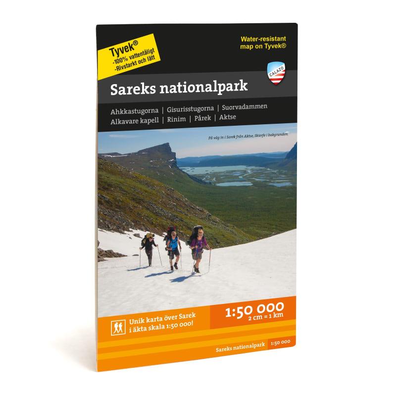 Calazo förlag Sareks nationalpark 1:50.000 Svart