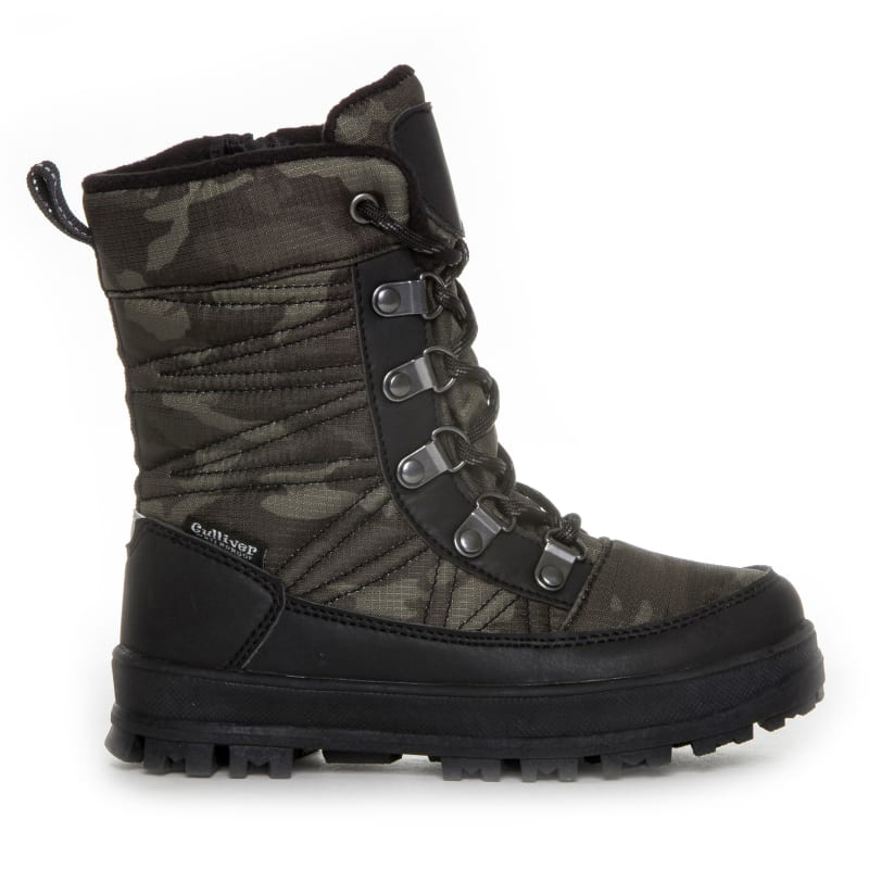 Kids Camou Boots with Lacing