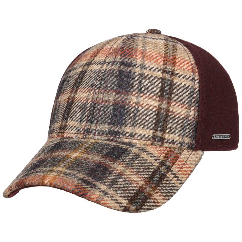 Baseball Cap Wool Check