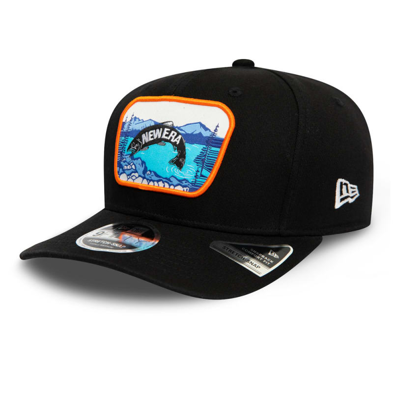 Outdoors Black Stretch Snap 9FIFTY Cap