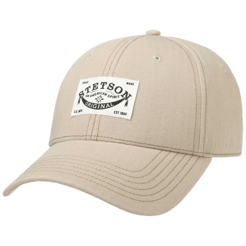 Baseball Cap Cotton Herringbone