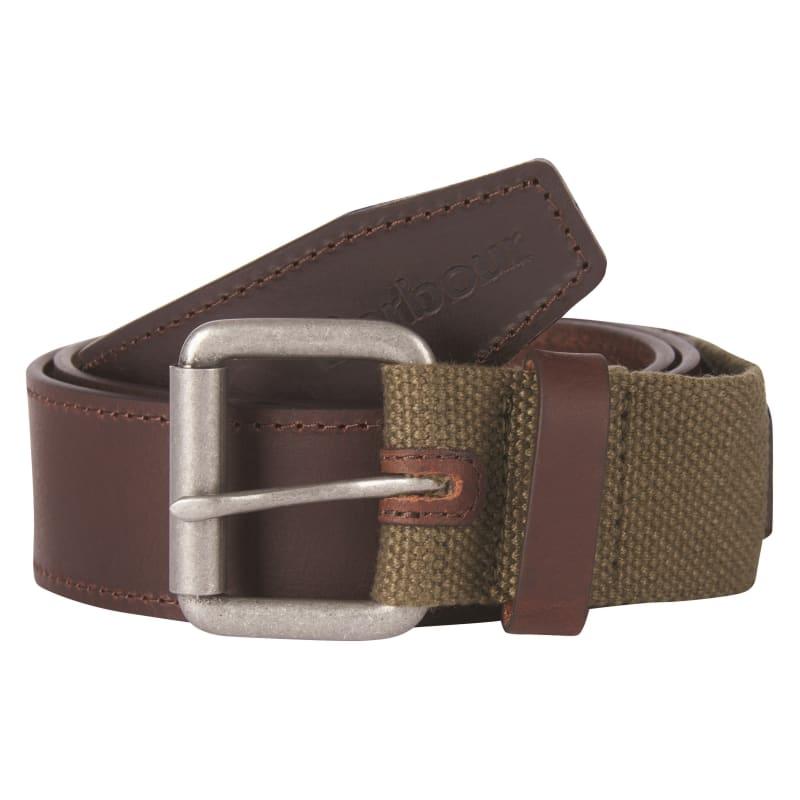 Barbour Web/Leather Belt