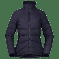 Bergans Oslo Down Hybrid Long Jacket Dame solid charcoal