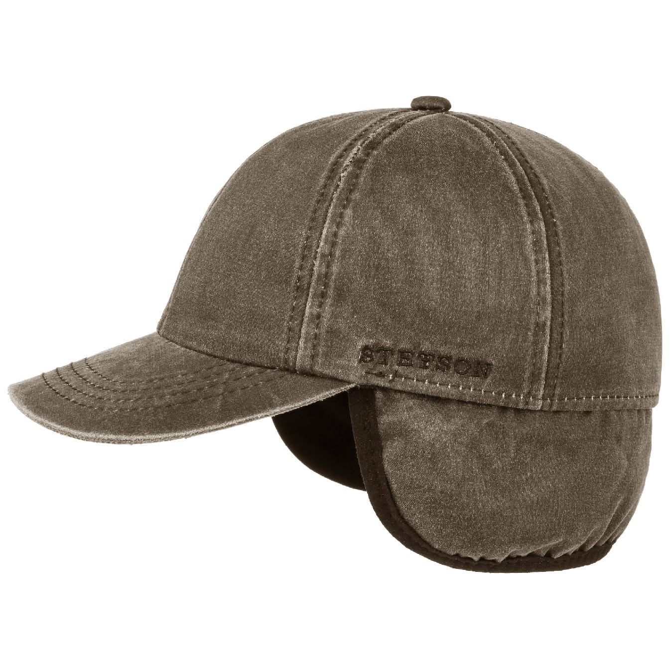 Buy Stetson Cotton Baseball Cap w. Ear Flaps from Outnorth 091eddeabcc